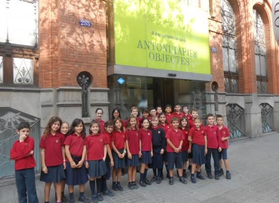 4t de primària a la Fundació Antoni Tàpies